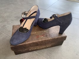 Stockerpoint Classic Court Shoe dark blue leather