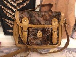 Primark Gekruiste tas goud Oranje-zwart bruin