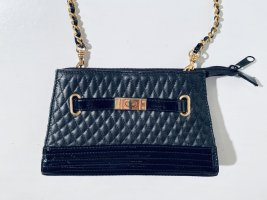 """Schöne Vintage """"Sybilla"""" Abendtasche mit Kettenhenkel aus schwarzem Leder"""