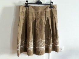 Ann Taylor Plaid Skirt beige-light brown
