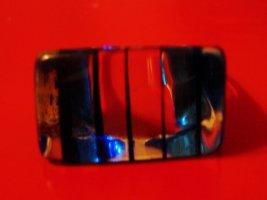 Schöner blau transparenter Ring, Durchmesser 17 mm