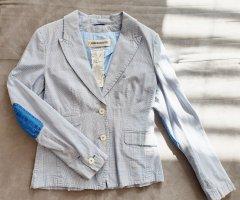 Drykorn Klassischer Blazer bianco-blu