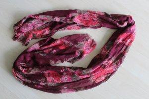 H&M Bufanda rojo oscuro-rosa