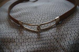 Cinturón de cuero de imitación marrón