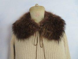 schöner dunkelbrauner Echt Waschbär Fellkragen - Pelzkragen für Bluse Pullover Jacke Mantel - Vintage