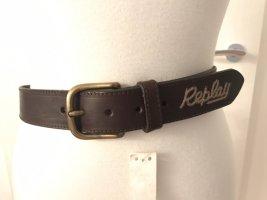 Schöner dunkelbrauner Ledergürtel von Replay * neu mit Etikett