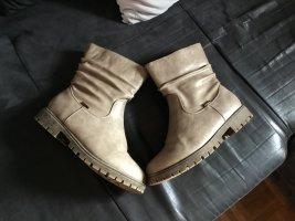 Anna K Bottes d'hiver gris brun-beige clair