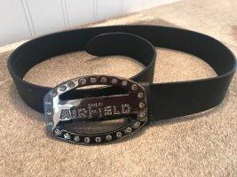 Airfield Leather Belt black leather
