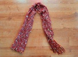 Handmade Écharpe en crochet rouge foncé-rouge brique