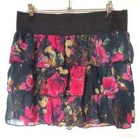 Amisu Flounce Skirt multicolored viscose