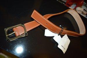 Wunderkind Leather Belt cognac-coloured