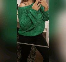 H&M Pull à gosses mailles vert