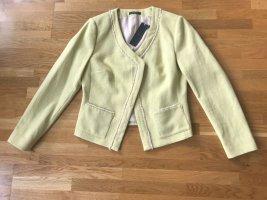 Esprit Knitted Blazer yellow cotton