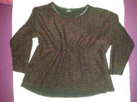 schöner rot / schwarzer Pullover Gr. 44 / 46 - neu