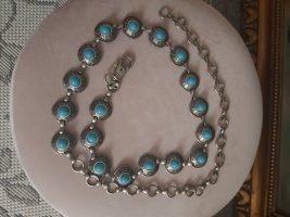 Bijou Brigitte Cinturón de cadena color plata-azul claro