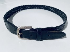 Bree Braided Belt black-silver-colored leather