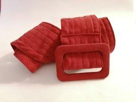 H&M Fabric Belt dark red