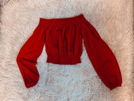 H&M Cropped Top dark red