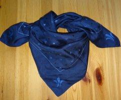 ***Schönes Damen Seidentuch in dunkelblau mit Aufdruck 65x65 cm***