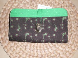 Wallet brown-green cotton