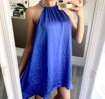 Schönes Kleid H&M Premium Seide royal blau / 36 38/ Sommerkleid Nieten Silber Minikleid Partykleid