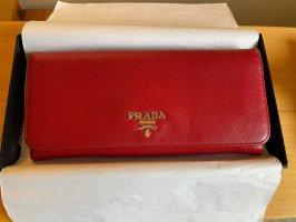 Schönes rotes PRADA Portemonnaie