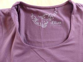 Schönes S.OLIVER SELECTION T-Shirt in aubergine, Gr. 38