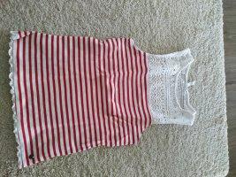 Anti Blue Camisa de rayas blanco-rojo ladrillo