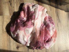 Zijden doek roségoud-wit