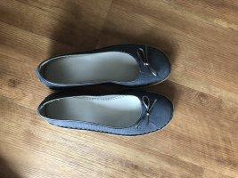 Scholl Patent Leather Ballerinas slate-gray-dark blue