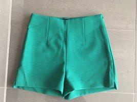 Zara High waist short donkergroen