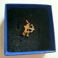 Schütze Sternzeichen Anhänger Gold 14 Karat 585 mit kleinen Edelsteinen