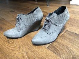 Bronx Wedge Booties grey-light grey