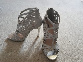 Short Boots silver-colored