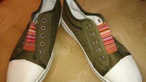 markenlos Slip-on Sneakers petrol