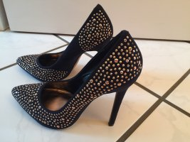 Catwalk Pointed Toe Pumps black-gold-colored