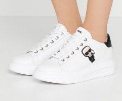 Karl Lagerfeld Zapatos de patinador blanco-negro