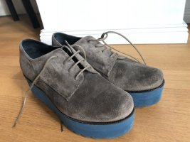 Paloma barceló Platform Boots dark grey-cornflower blue