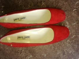 Pierre Cardin Peep Toe Ballerinas red