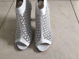 Vera Pelle High-Heeled Toe-Post Sandals white