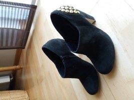 Schuhe Damen Pumps Stiefletten SPM schwarz Gr.37 Leder