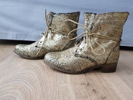 Lace-up Boots gold-colored