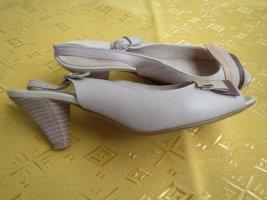 Schuhe, Gr.36/37, beige