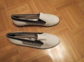 Schuhe, Halbschuhe, Mokassins, Gr.41, neu, weiß