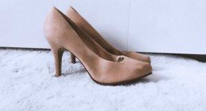 Schuhe High Heels Sandaletten Pumps beige rose rosa pink