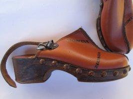 Schuhe Holz Honda Vintage Retro Gr. 33