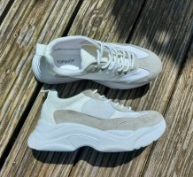 Topshop Lace-Up Sneaker white-oatmeal
