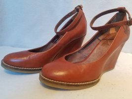 Bata Mary Jane Ballerinas dark orange leather