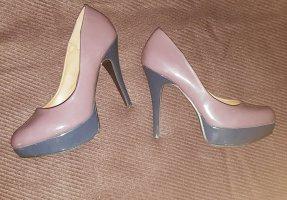 Schuhe mit Plateauabsatz - lila