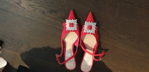 Zara Slingback Pumps red